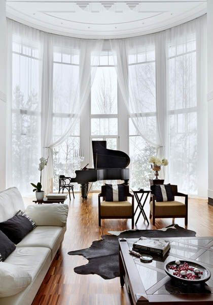 30 Ideas How to Beautifully Hang Extra Long Curtains