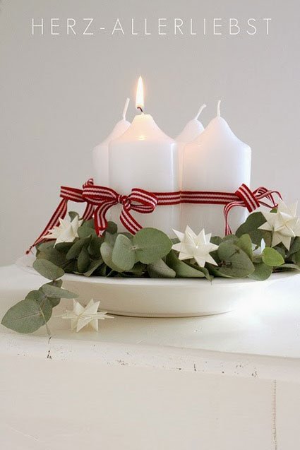 wreath with candles for Advent