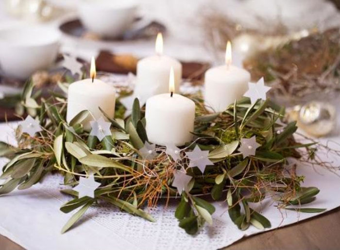 40 original advent wreath ideas for 2014 year for Idee deco table noel