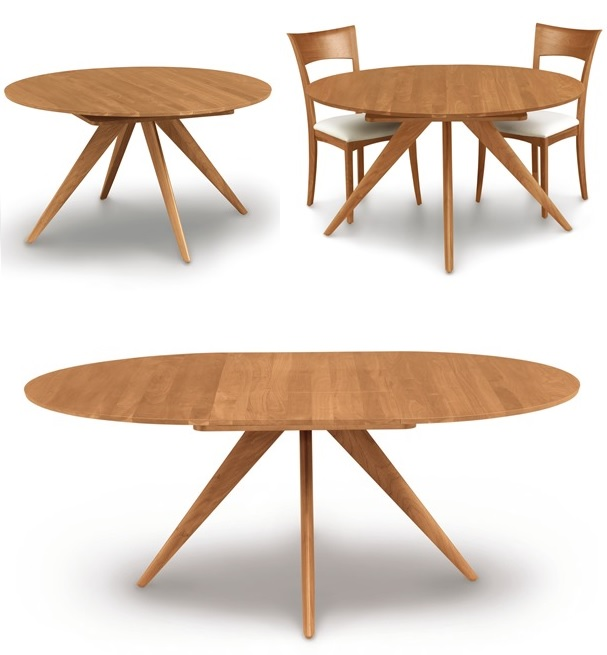 Extendable dining tables from simple table into a great table