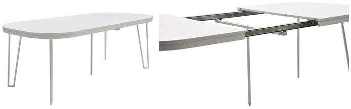 scandinavian style oval extendable dining table by  RGE Capello