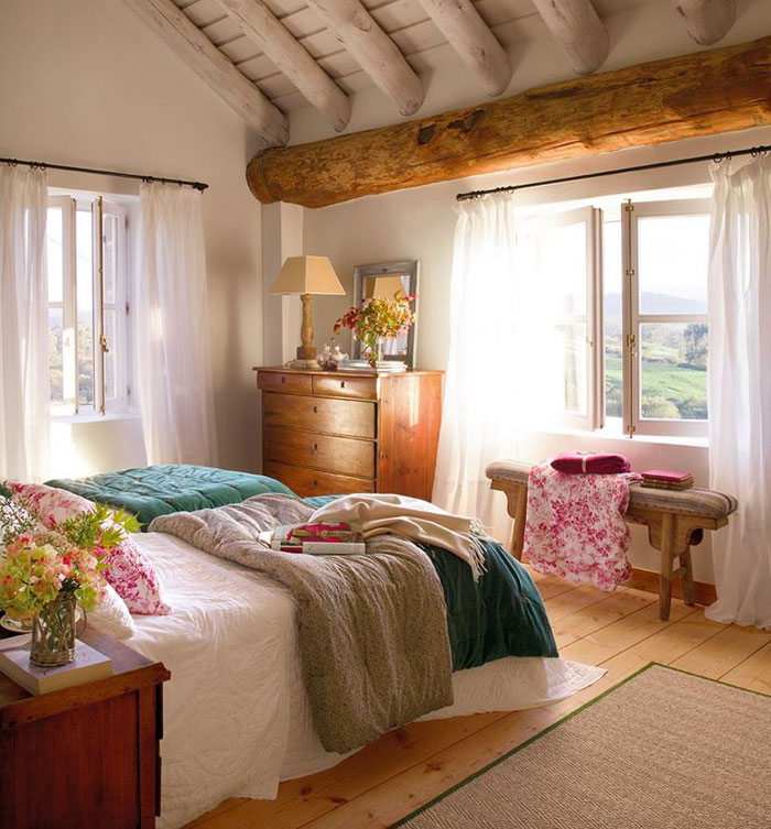 Inviting Spanish Interior For Cottage In Cantabria Spain