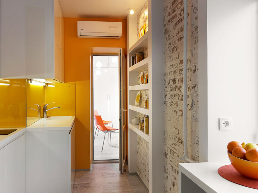 tiny apartment interior in kiev