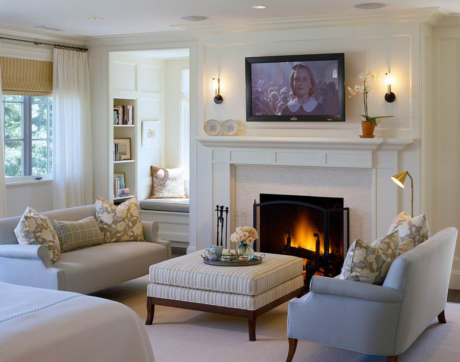 50 modern and traditional fireplace interior design ideas - Small living room ideas with tv ...