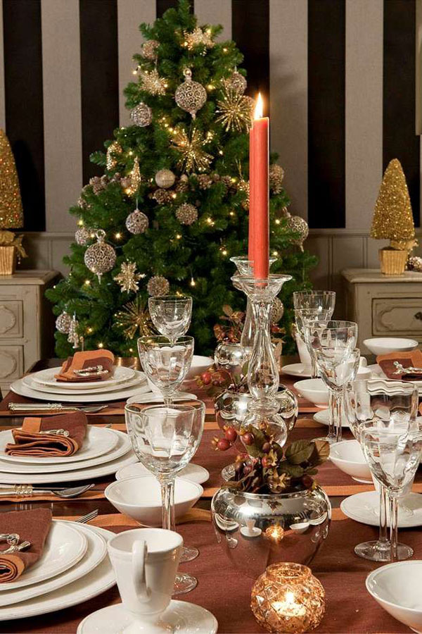 101 christmas table decorations ideas for this holiday season for Abbellire la classe per natale