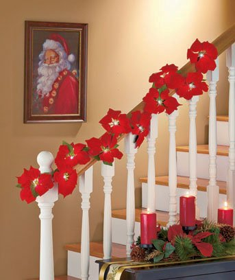 poinsettia garland decoration