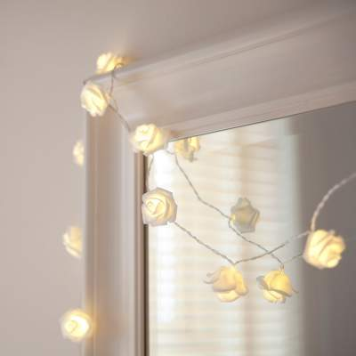 White Rose Flower Fairy Lights