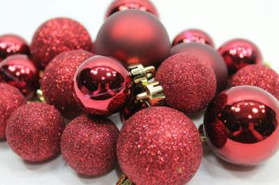 Red Christmas Bulb Ornaments