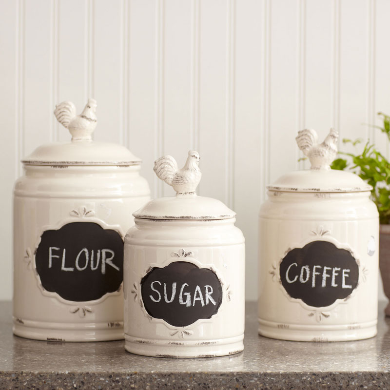 decorative kitchen canisters and jars kitchen canister set set of 3 contemporary kitchen