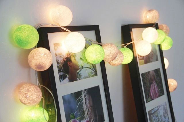 how to use cotton ball lights