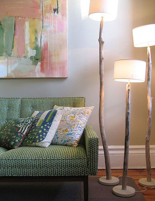 ideas for decorating with floor lamp