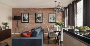 interior design for moscow apartment in classic style