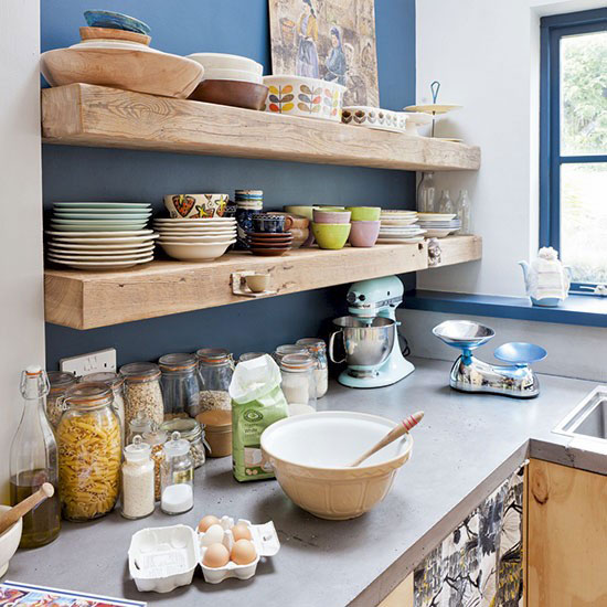 55 open kitchen shelving ideas with closed cabinets for Open shelves in kitchen ideas