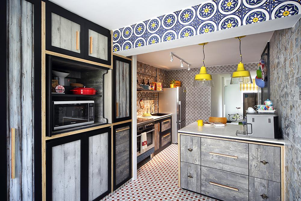 Kitchen Tiles Singapore eclectic interior design with bold patterned tiles in singapore