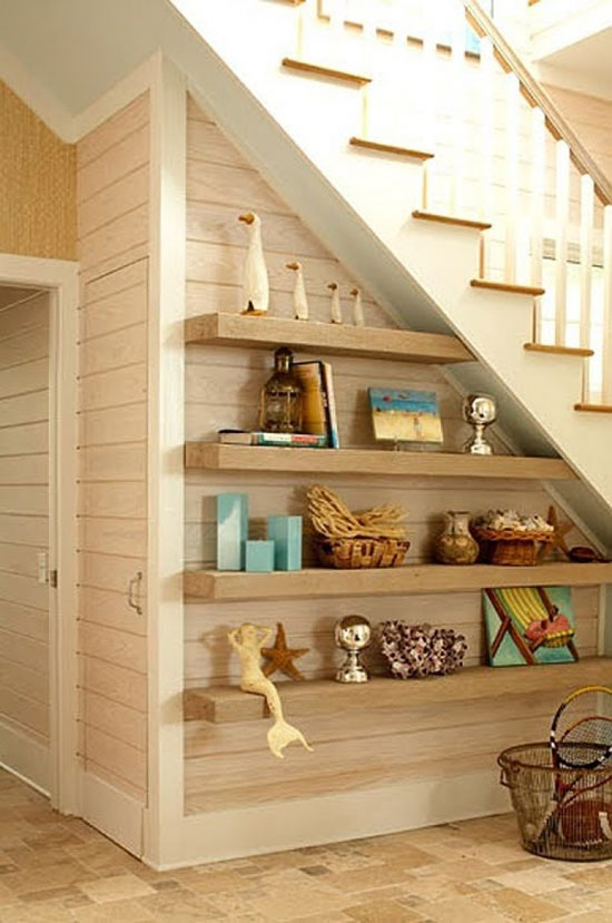 storage under stairs ideas
