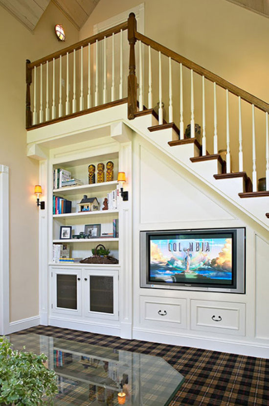 37 functional and creative under stair storage ideas for Understairs storage