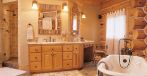 log home bathrooms ideas