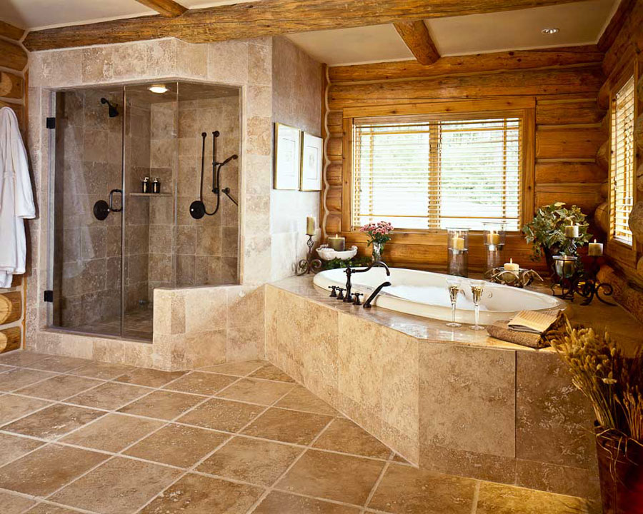 30 warm and cozy log bathroom design ideas - Bathroom designs for home ...