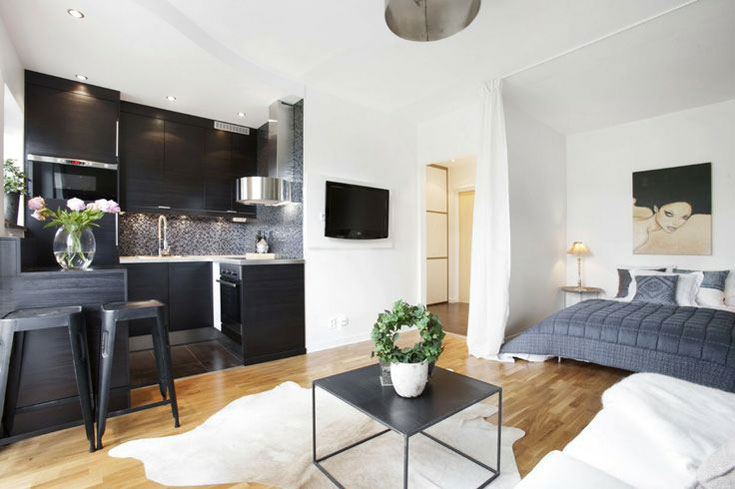 Studio Apartment Design Amazing Ideas Withsmall Studio Apartment In ...