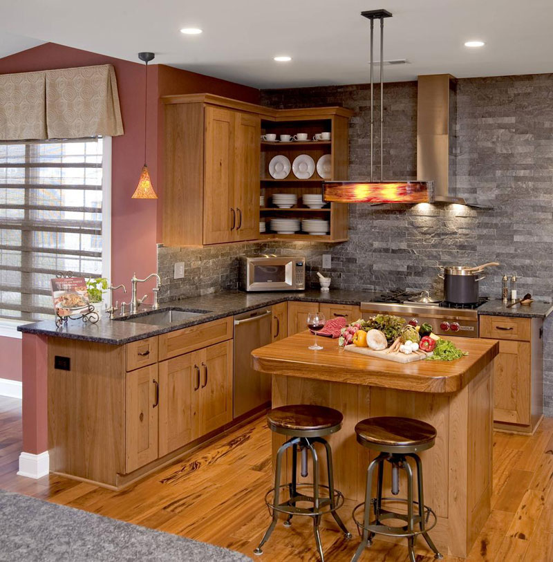51 Warm Wooden Kitchen Designs In Modern Classic Style