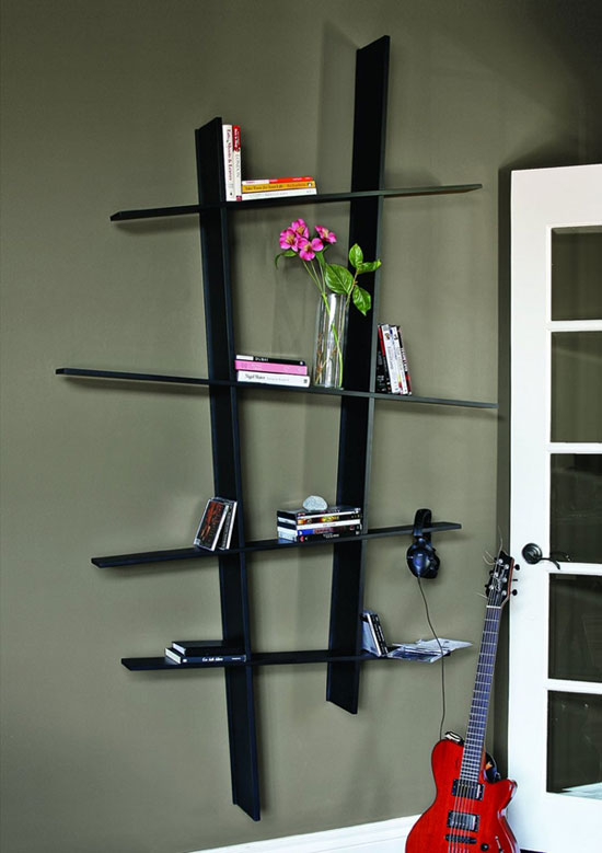 wall mounting bookshelf