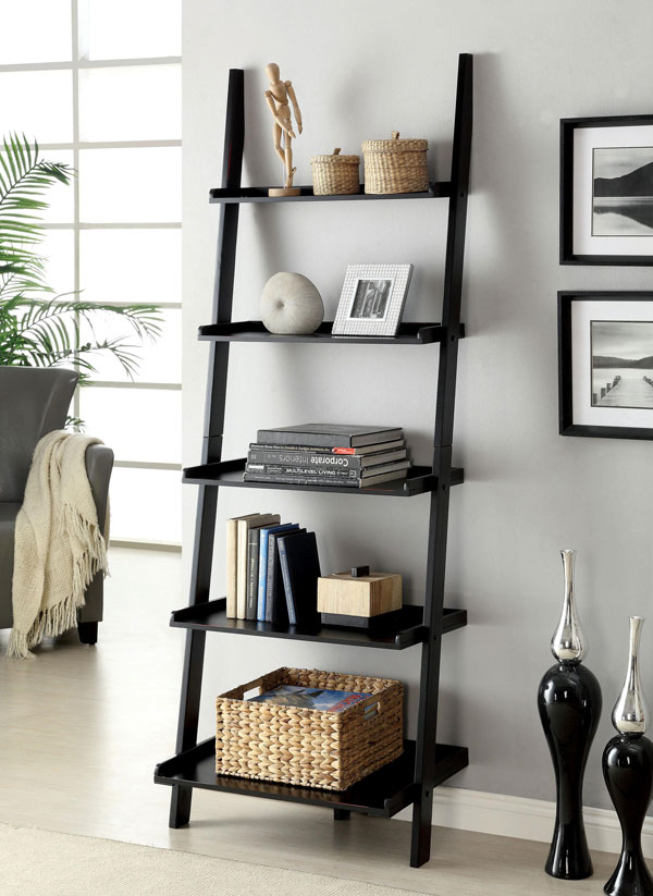 five tier ladder bookshelf