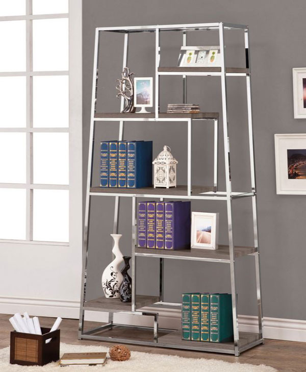 tapered bookshelf