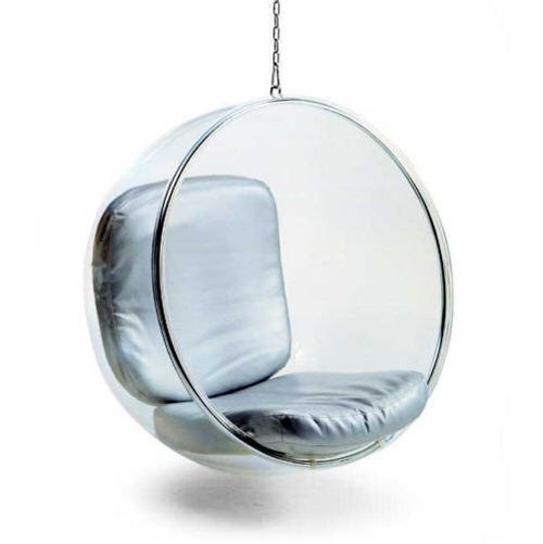 Acrylic Glass Swing Chair by Adelta