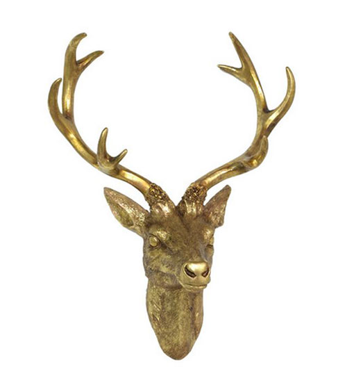brilliant antique deer plaque