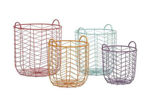 chevron wire baskets set of 4