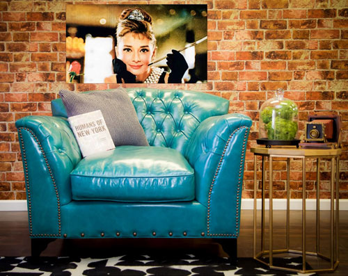 Classic Design Dark Turquoise Club Chair