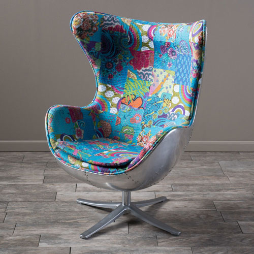 Colorful Gordon Swivel Balloon Chair