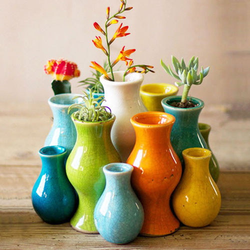 fiestita ceramic bud vases set