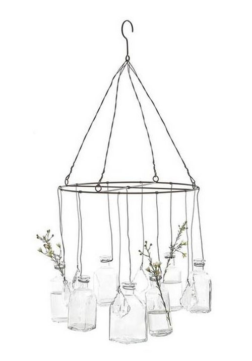 glass vase chandelier