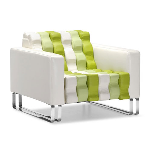 Modern and Original Ripple Design Armchair