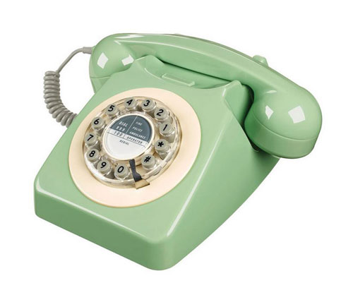 retro telephone in mint