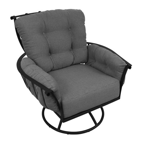 Swivel Rocking Chair with Cushion for Modern Home