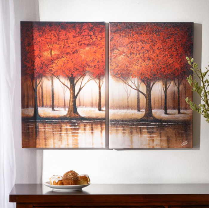 autumn print on wrapped canvas