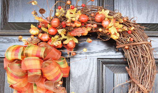 fall door wreaths