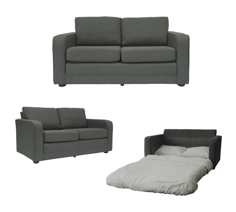 Ultra Lightweight Sleeper Sofa With Padded Seat By Fox Hill Trading