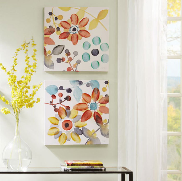 sweet florals painting print canvas