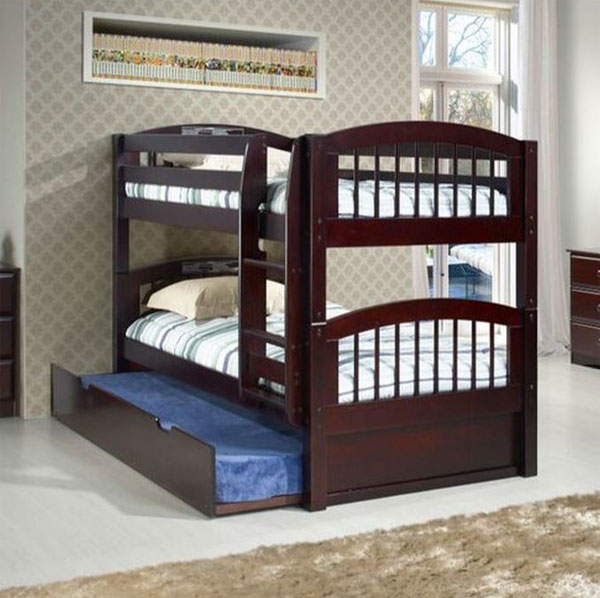 low bunk bed