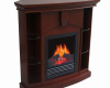 corner curio electric fireplace