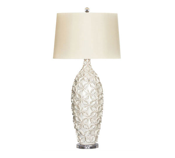 ceramic cream table lamp