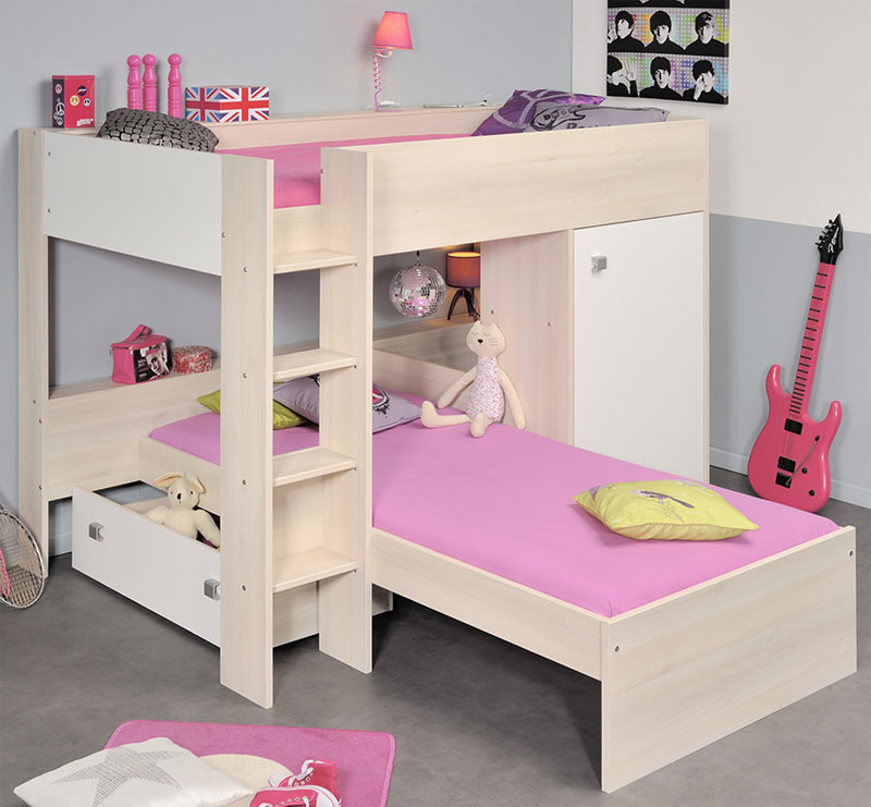 Low Bunk Beds with Storage for Low Ceilings