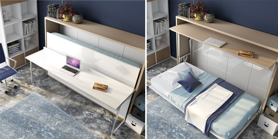 Murphy beds with desk for space saving solutions