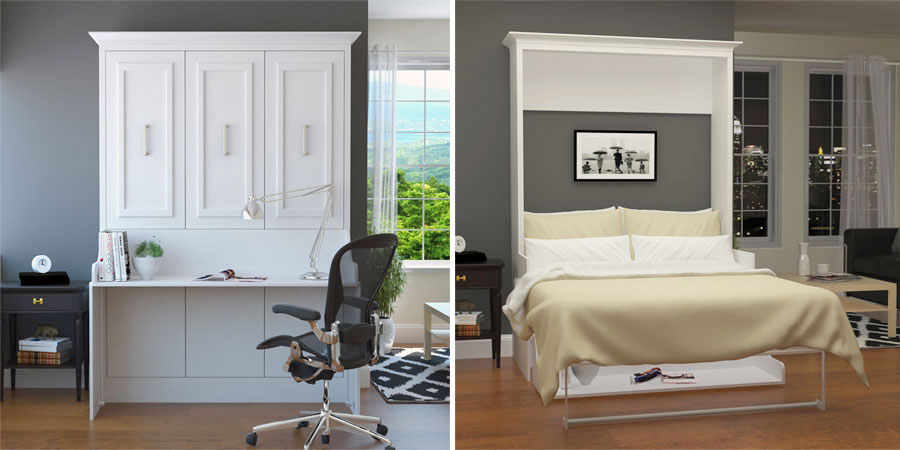 6 murphy beds with desk for space saving solutions. Black Bedroom Furniture Sets. Home Design Ideas