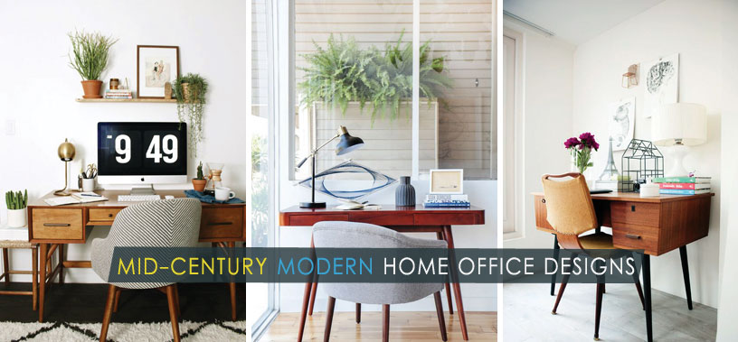 stunning mid century modern home office designs