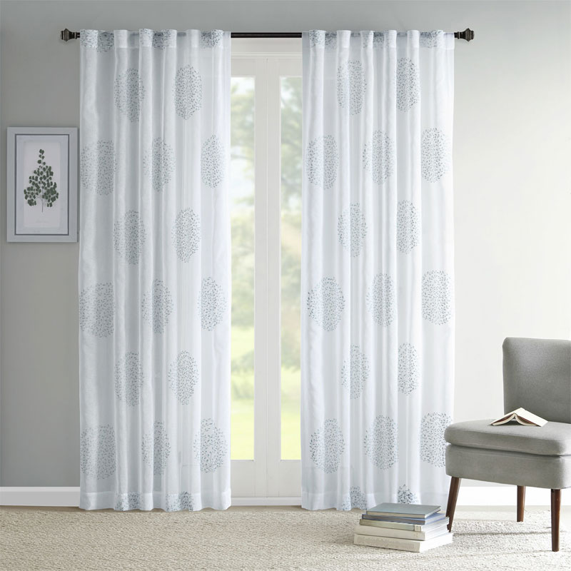 Seafoam Green Sheer Curtains Valances for Sliding Glass