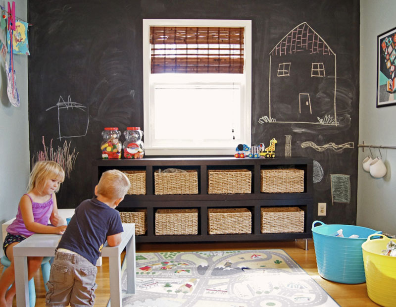 chalkboard paint for playroom